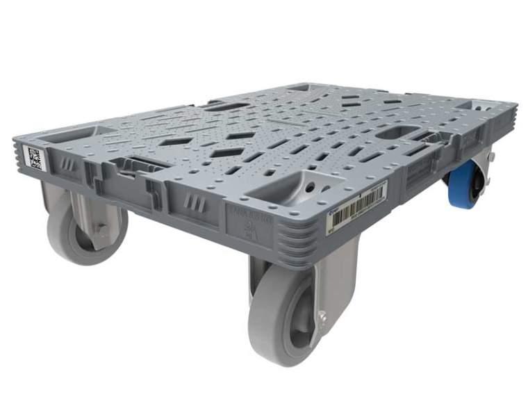 CHEP Viertelpalette mit Rollen 600 x 400 mm