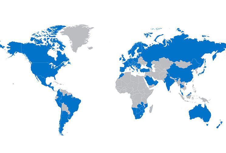 เครือข่ายเชพทั่วโลก