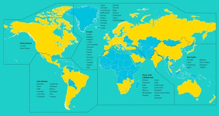 Unsere internationale Reichweite im Überblick