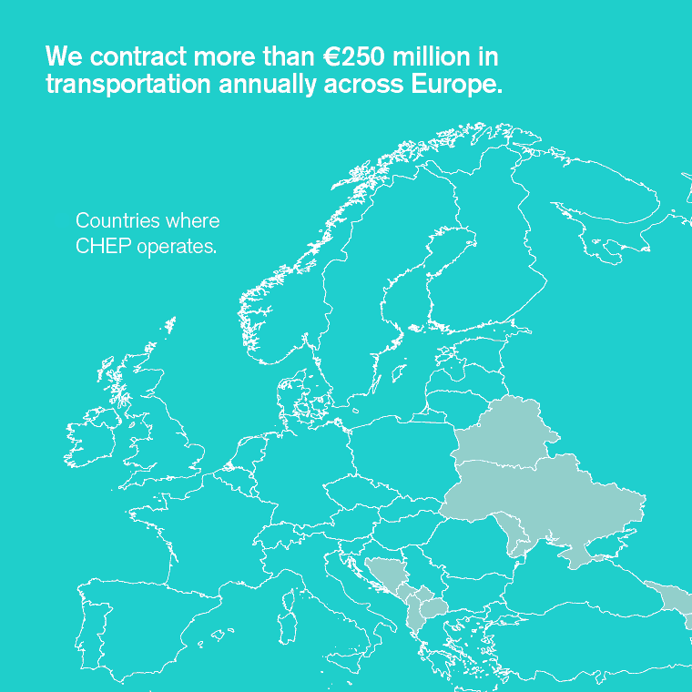 We contract more than 250 million Euro in transportation annually across Europe