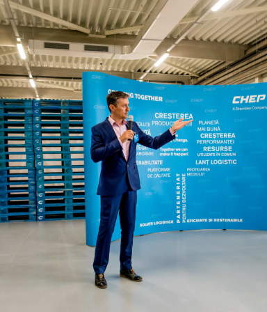 The CHEP Growing Together event organised at the Mainfreight warehouse in Ploiesti