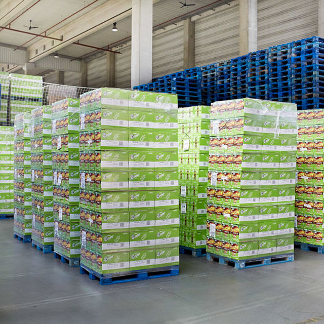 CHEP blue pallets at warehouse
