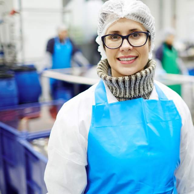 woman worker at manufacturer