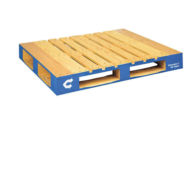 CHEP Pooled Wooden Pallet, Pallet Dimensions 48 inches by 40 inches