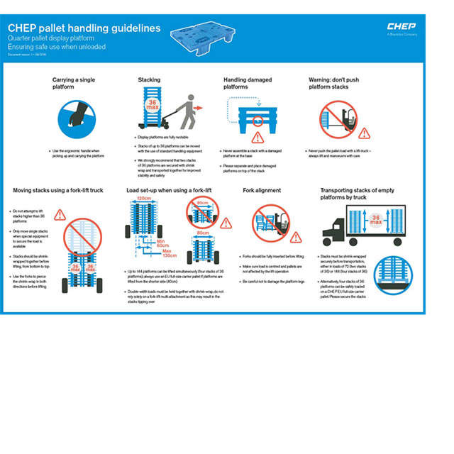 CHEP Viertelpalette - Handling Guidelines