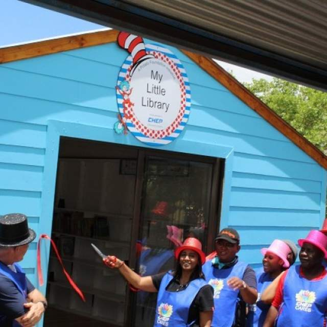 "Opening of ""My Little Library"" at Olievenhoutbosch Primary School"