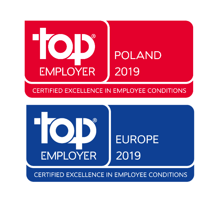 TOP Employer Polska i Europa 2019