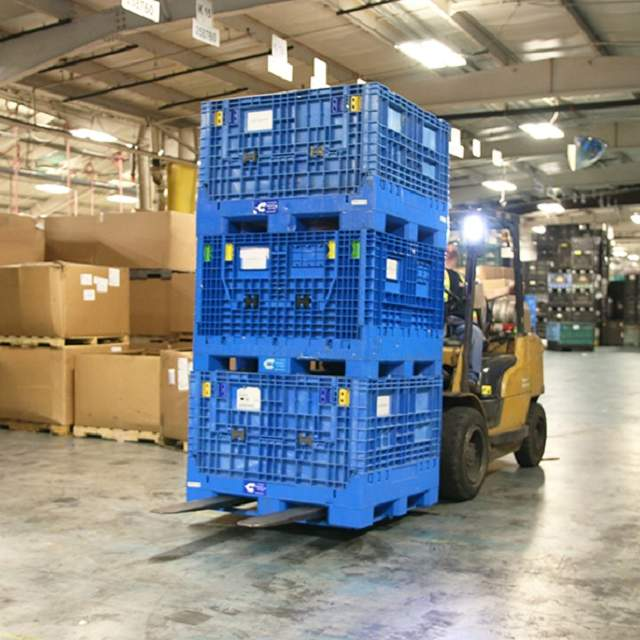 Iso Bins on forklift